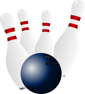 Bowling Ball & Pins Graphic - Health Benefits of Bowling