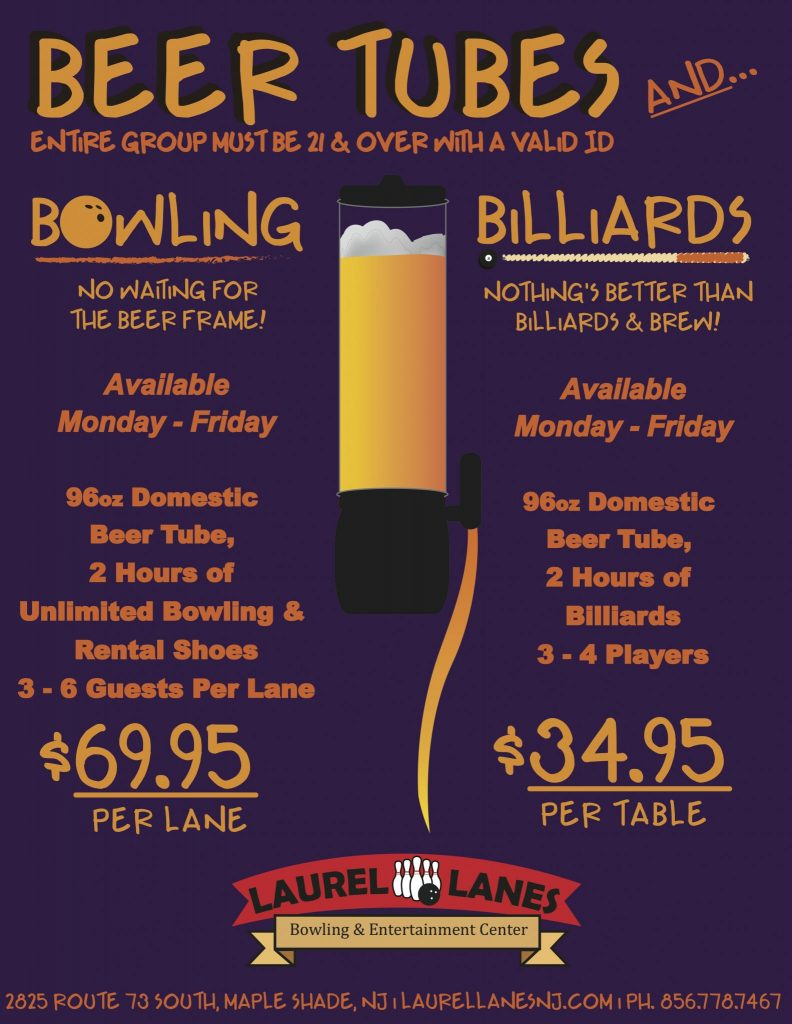 Beer Tubes & Bowling Flyer